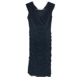 Tadashi | S | Black Ruched Sheath Cocktail Dress